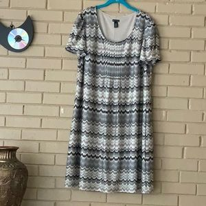 NEW DIRECTION SCOOP NECK DRESS SIZE 18W NWOT